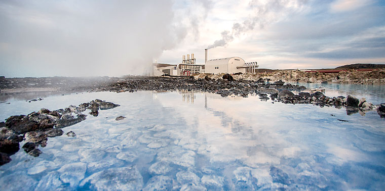 The Svartsengi Geothermal Power Plant in southwestern Iceland
