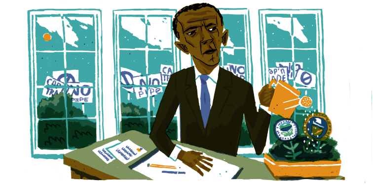 Obama climate illustration