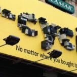 E-cycle Best Buy billboard
