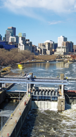 Hydropower facility in Minneapolis