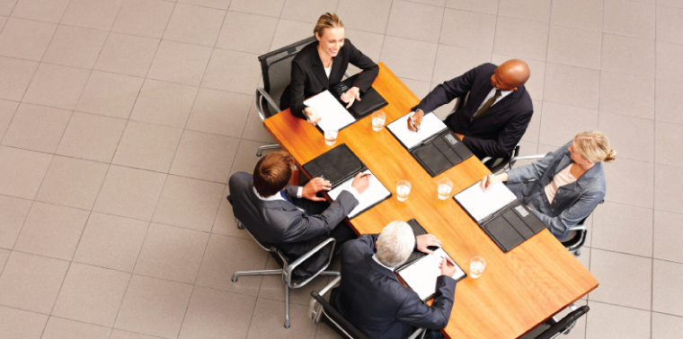 Business people meeting at a conference table
