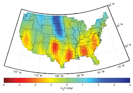 GRACE data map