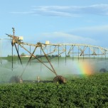 Irrigation with a center pivot sprinkler system