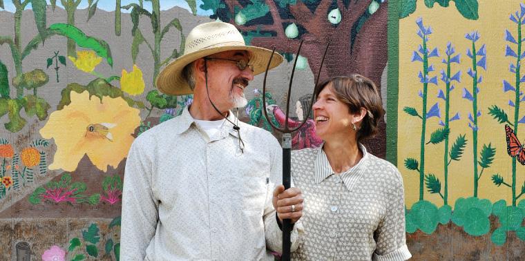 Raoul Adamchak and Pamela Ronald