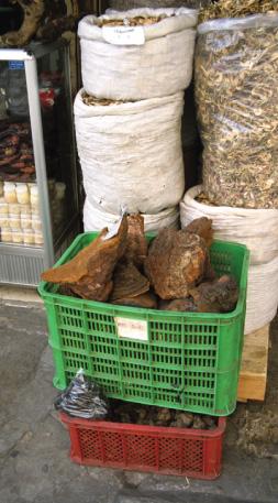 Basket of rhino horns