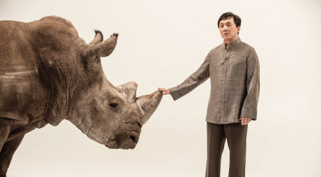 Jackie Chan with rhino