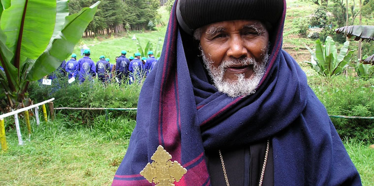 Clergy from the Orthodox Tewahido Church in Ethiopia