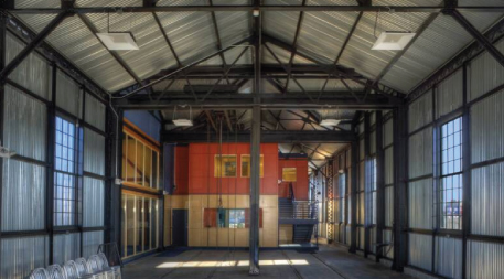 Dovetail Construction office created from former electric railway car barn