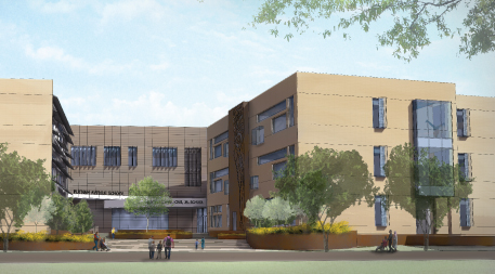 Rendering of the future Martin Luther King Jr. School