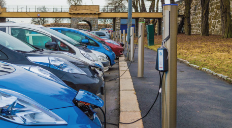 Electric cars charging in Norway