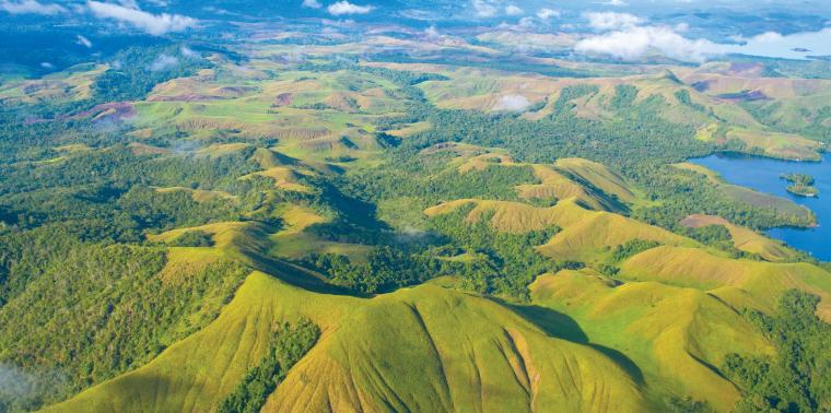 Papua New Guinea aerial landscape