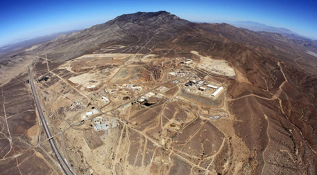 Aerial photo of the Mountain Pass, California Rare Earth Facility courtesy of Molycorp.