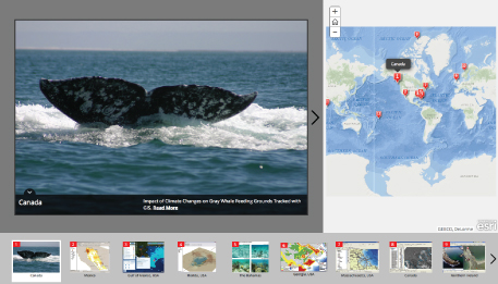 GIS for the oceans story map