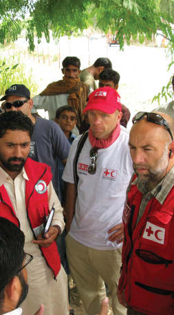 Red Cross staff and volunteers