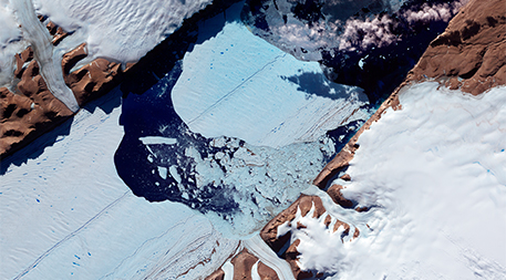 NASA image of Petermann Glacier acquired July 21, 2012