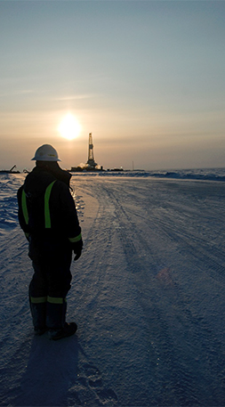 Receding sea ice in the Arctic is revealing 22 percent of the undiscovered, technically recoverable hydrocarbon resources in the world. But offshore oil and gas development brings with it environmental risks. Photo by Edward Struzik.