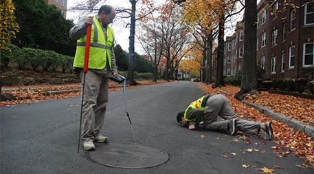 Measuring methane levels on a Boston Street