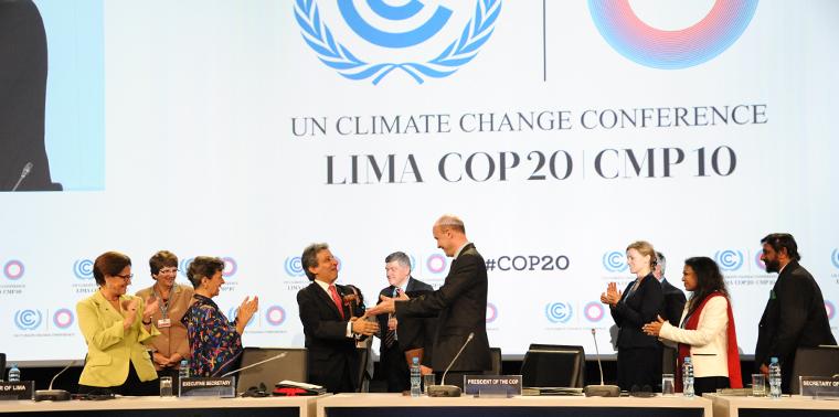 COP 20 President Manuel Pulgar-Vidal, Lima