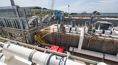 Carlsbad Desalination Project construction as of April 2015