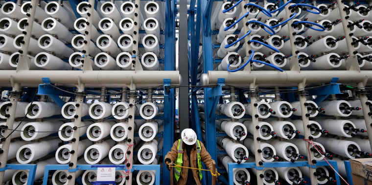 Pressure vessels at desalination plant in Carlsbad