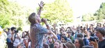 Astronautalis performs at music festival