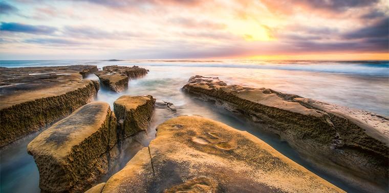 Ocean carved rocks