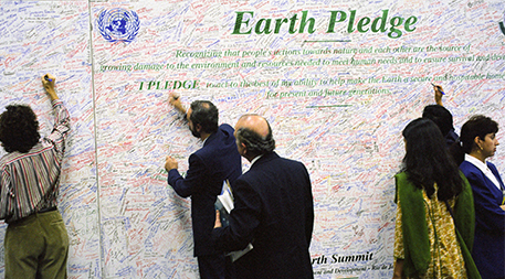Earth Pledge at United Nations Conference on Environment and Development