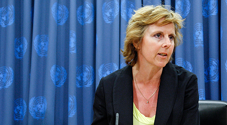 Connie Hedegaard Minister for Climate and Energy of Denmark Briefs Media