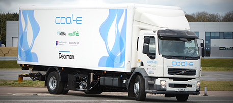 The UK-based Dearman engine company is testing a new engine for truck refrigerators that produces zero greenhouse gas emissions. Photo by Dearman Ltd  (Flickr)
