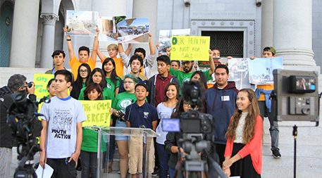 Press conference at Los Angeles City Hall