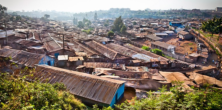 View of Kibera slums