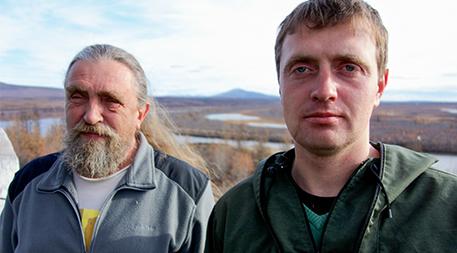 Sergey and Nikita Zimov at Pleistocene Park