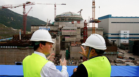 Nuclear reactor under construction in China