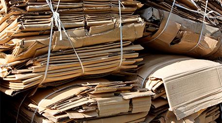 Cardboard bundles for recycling
