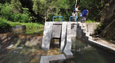 Though water does not rush through this micro-hydropower plant in the village of Kamanggih, it helps produce enough electricity for more than 300 homes. Photo by Cleo Warner