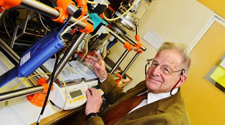 Professor Glasser at the Radley Reactor