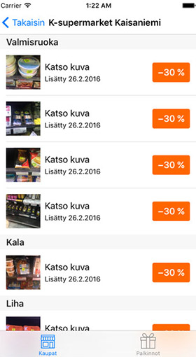 In Finland, the app Froodly shows users supermarket products at discounted prices in hopes of offering a good deal instead of throwing out food.