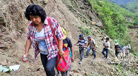 Berta Caceres in the Rio Blanco region of western Honduras