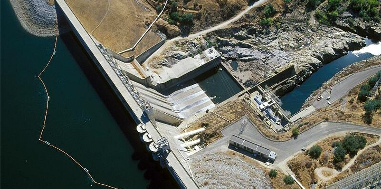 Folsom Dam from above