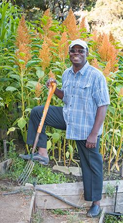 Togo's Jean Apedoh at the Common Ground mini-farm