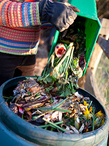 Composting can help reduce the landfill methane problem by keeping some organic material out of the trash. Photo © iStockphoto.com/cjp