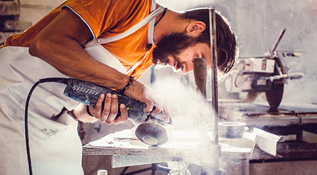 "Some of the earliest evidence of environmental risk factors for immune-mediated disease comes from the ""dusty trades"" where occupational exposure to silica dust may account for the higher rates of autoimmune rheumatic diseases in people working these jobs. Photo © iStockphoto.com/sanjari"