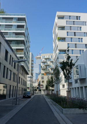 Clichy-Batignolles green buildings