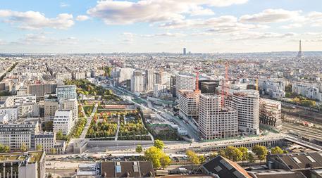 Clichy-Batignolles aerial view
