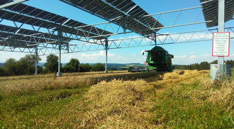 solar panels with farm machinery