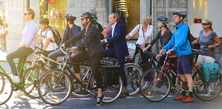 Swedish bicyclists