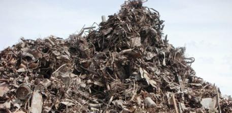Landfill metals awaiting recycling