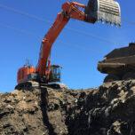 Garbage mining at Cedar Hills Regional Landfill