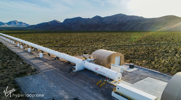 elevated hyperloop tube protecting environment