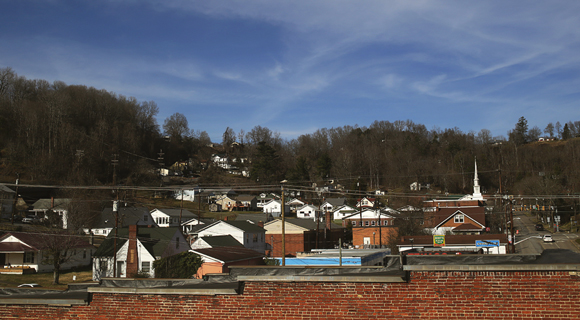 The historic coal town of St. Paul, Virginia